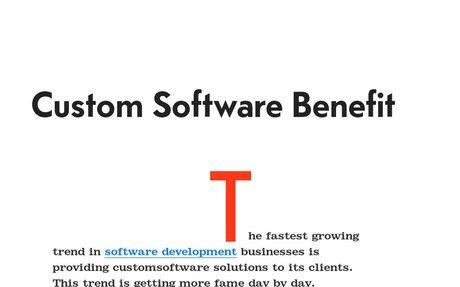 'custom software development benefit' by Muzammil Hingoro | Readymag