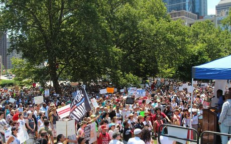 Thousands protest ICE, family detention in Philly