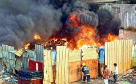 Blazing inferno at crammed Jeedimetla pharma zone, 7 suffer burns, 3 critical - Times of I