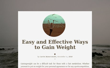 'Gavin Manerowski | Easy and Effective Ways to Gain Weight' by Gavin Manerowski | Readymag