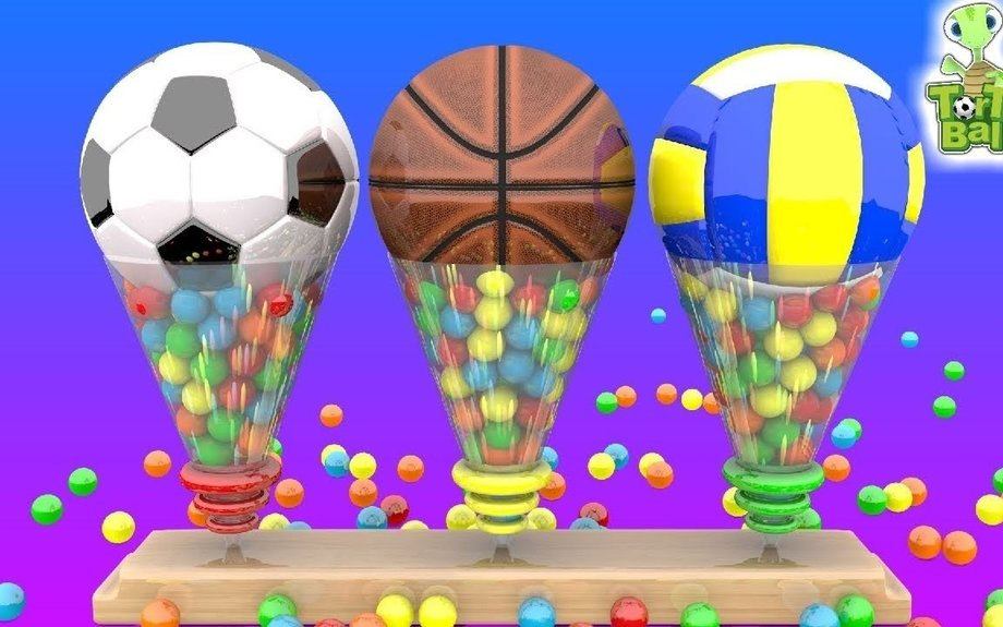 LEARN BALLS Funnel Soccer Ball Basketball and Volleyball For Children and Kids | Torto Bal