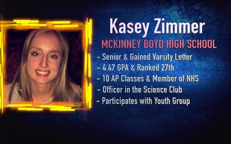 Scholar Athlete of the Week - Kasey Zimmer