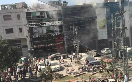 At least 7 dead, 17 injured after deadly blast rocks commercial building in Lahore, Pakist