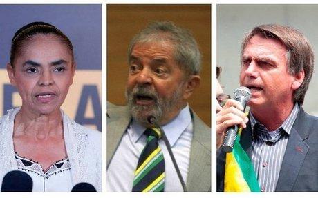 Datafolha: Após prisão, Lula cai, e Marina se aproxima de Bolsonaro