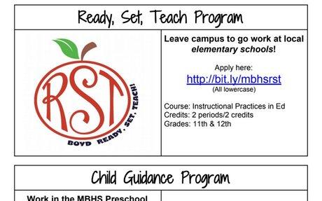 Ready, Set, Teach & Child Guidance Programs