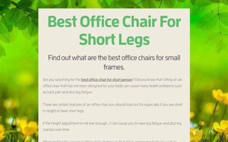 Best Office Chair For Short Legs