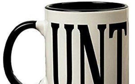 Amazon.com: Adult Humour Rude Gift Cup Ceramic UNT CUNT With Black Handle Ceramic Coffee T