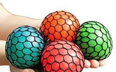 Amazon.com: Mesh Squishy Ball Squeeze Grape Ball Relieve Pressure Ball, Colors May Vary, 2