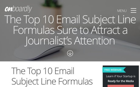The Top 10 Email Subject Line Formulas Sure to Attract a Journalist's Attention