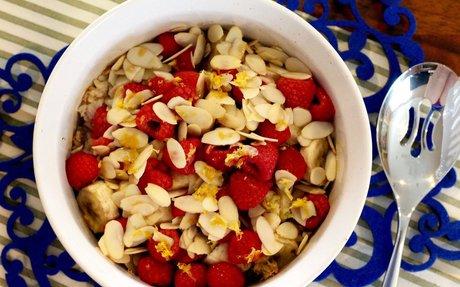 Almond Raspberry Baked Rice