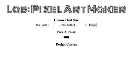 Project 3: Pixel Art Maker
