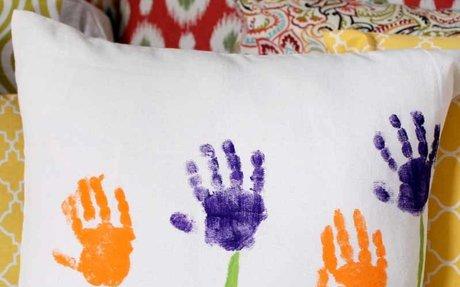 Mother's Day Handprint Pillow