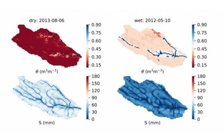 Modeling forest evapotranspiration and water balance at stand and catchment scales: a spatial approach