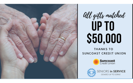 Seniors in Service of Tampa Bay, Inc. to Receive $50,000 Match Opportunity From Suncoas...