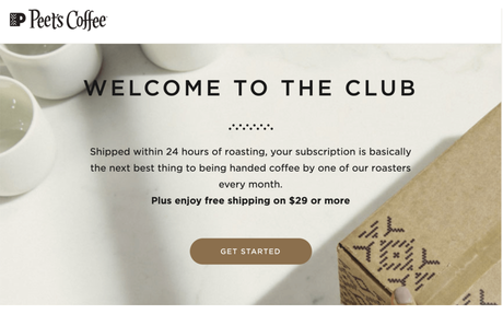 A massive 40% of New Peet's Coffee Beans Subscriptions