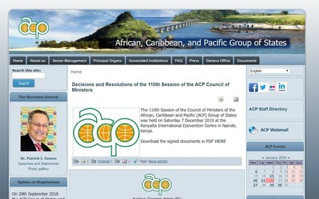Decisions and Resolutions of the 110th Session of the ACP Council of Ministers   ACP