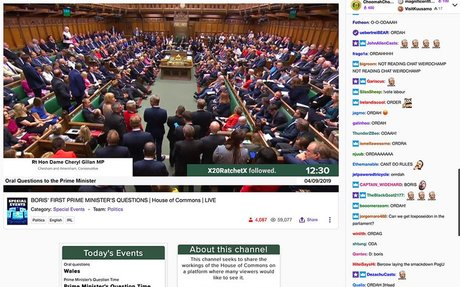 Gaming platform Twitch may be the best place to watch parliamentary debates