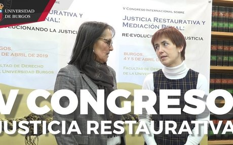 Presentación del V Congreso de Justicia Restaurativa. Universidad de Burgos