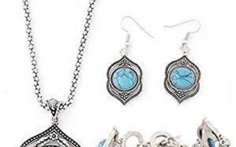 Amazon.com: ShungHO Retro Jewelry Earrings Necklace Women Bracelet Set