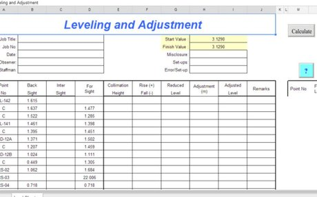 📈 Excel Spreadsheet Tools for Land Surveyors | elink