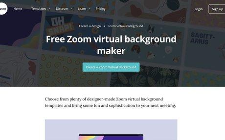 Canva Zoom virtual background maker
