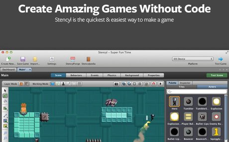 Stencyl: Make iPhone, iPad, Android, Windows, Mac, Flash and HTML5 Games without code