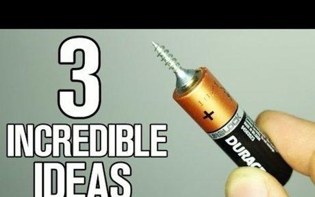 3 Incredible ideas and Life Hacks