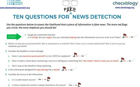 Ten Questions for Fake  News Detection