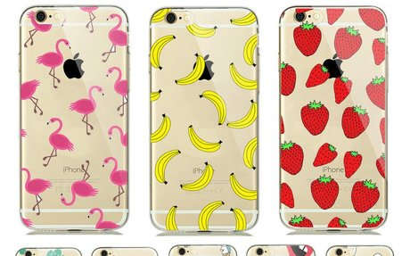 Colorful Fruit BOO Lips Cactus Print Ultra Thin Transparent Soft TPU Phone Case Coque For