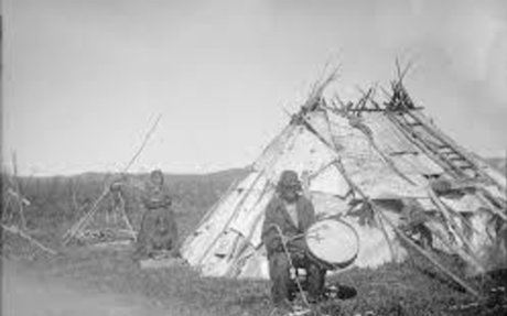 American Indians : Birch Bark Lodge - Ojibwe