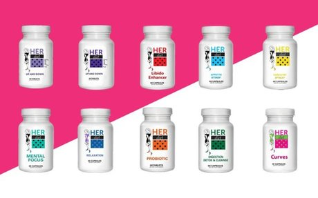 HERdiet Weight Loss Pills 60 Pink Capsules for Women More Energy Than A Triple