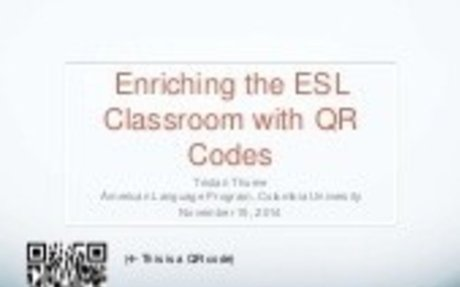 Enriching the ESL Classroom with QR Codes