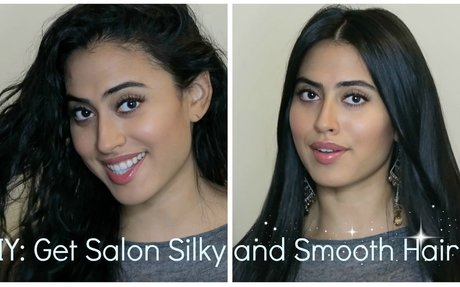 DIY: Salon Silky Smooth Hair