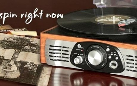 Amazon.com: 1byone Belt-Drive 3-Speed Stereo Turntable with Built in Speakers, Supports Vi