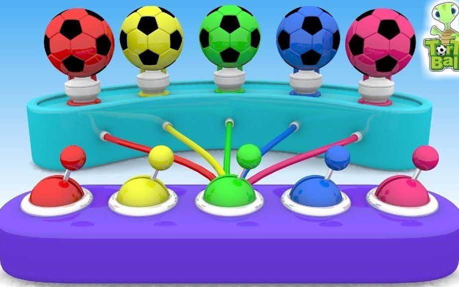LEARN BALLS Lamp With Soccer Ball Learn Colors For Children and Kids | Torto Ball