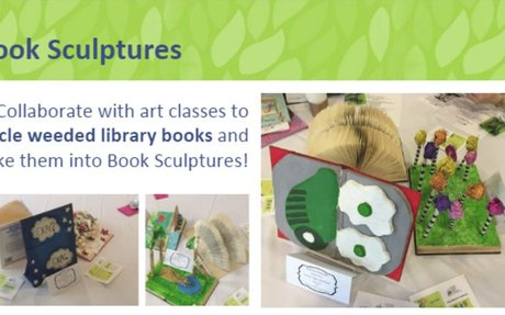 Recycled Books and Art Students