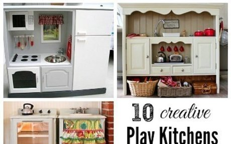 10 DIY Play Kitchen Ideas | Housing a Forest