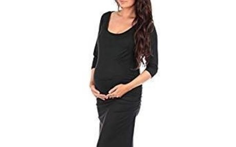 Women's Ruched Bodycon Maternity Dress in Regular Plus Sizes - Made in USA at Amazon Women