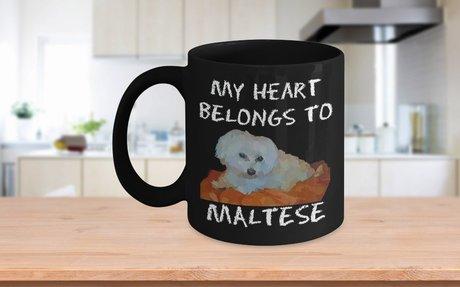 My Heart Belongs To Maltese Dog Mug