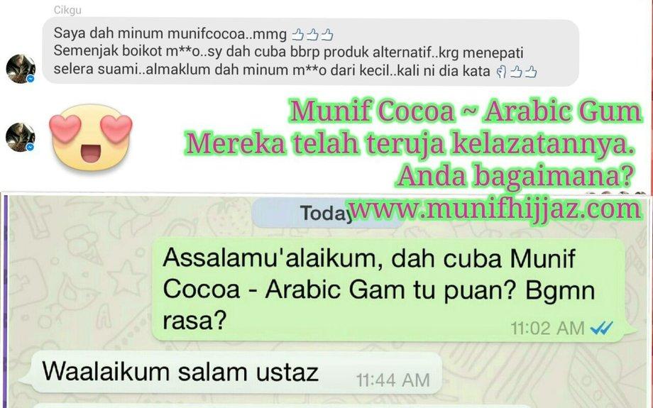Munif Cocoa Arabic Gum - Munif Hijjaz Marketing S/B