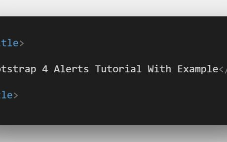 Bootstrap 4 Alerts Tutorial With Example