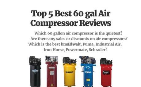 Top 5 Best 60 gal Air Compressor Reviews