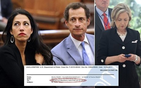 Huma Abedin DID back up emails to Anthony Weiner's laptop