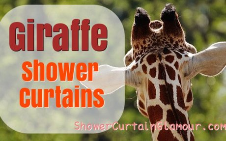 Best Giraffe Shower Curtain Designs - Funny & Adorable