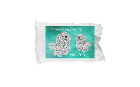 Maltese Dogs Lovers Pillow