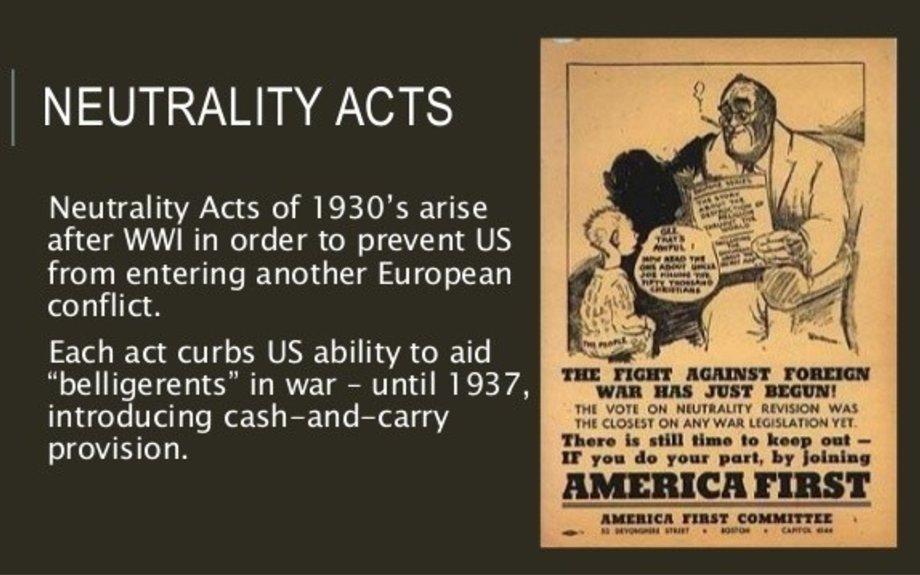 World War II: U.S. declares its neutrality in European conflict