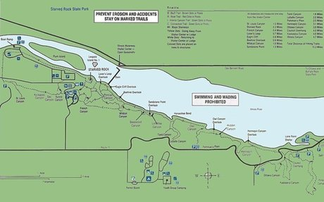 political map of starved rock