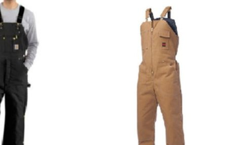 Extra Large Sizes of  Insulated Bib Overalls for Men