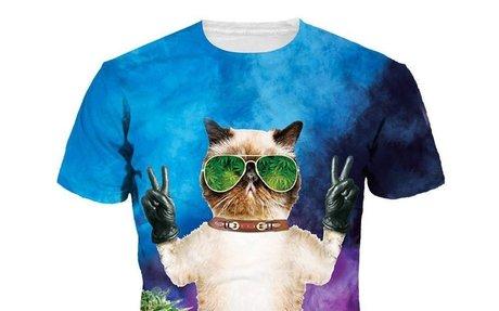 3D T-shirt Men/Women Weed Cat