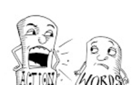 cartoons actions speak louder than words - Google Search